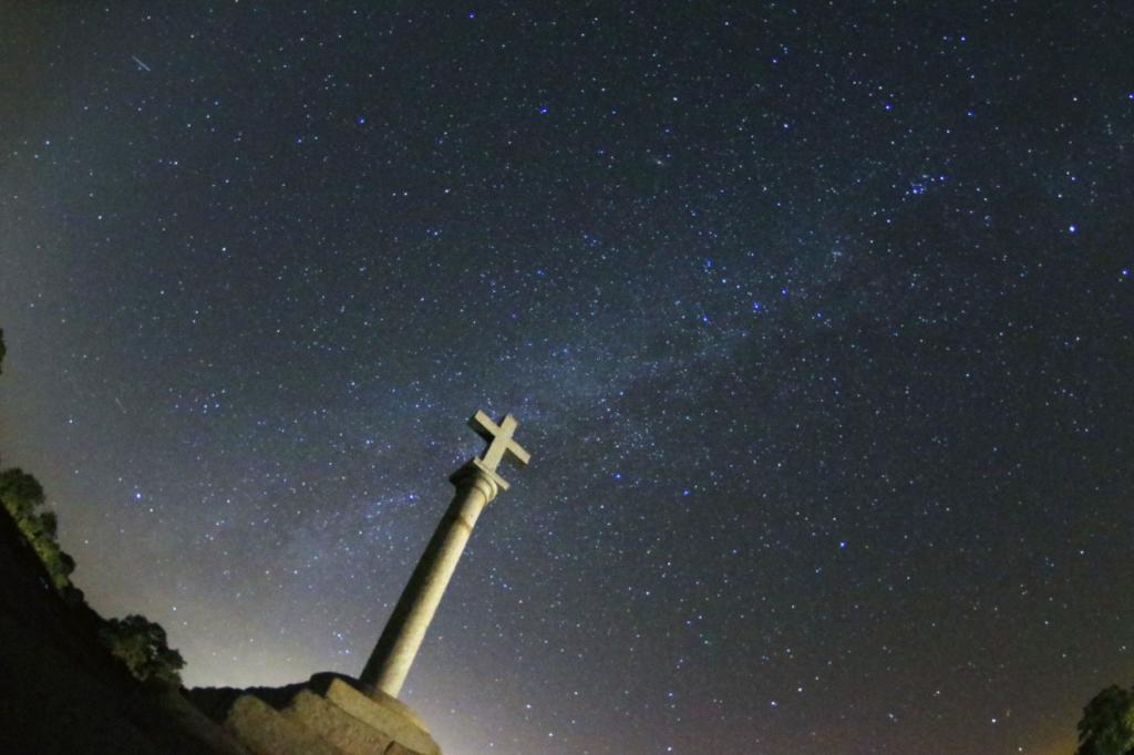 Campo amplio Vïa Láctea. Foto: Juan Gómez