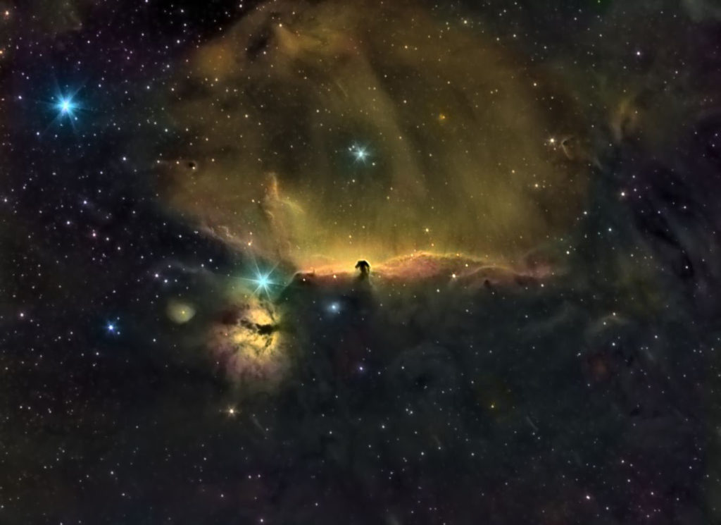 Horse Head and The Flame Nebula. Foto: Juan Gómez