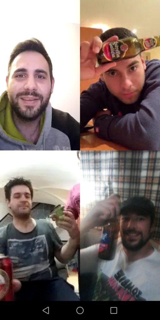 Alberto y sus amigos 'tomando una cerveza' por videollamada