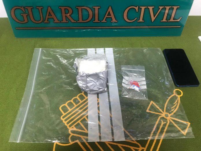 La Guardia Civil interviene 160 gramos de cocaína en Baena