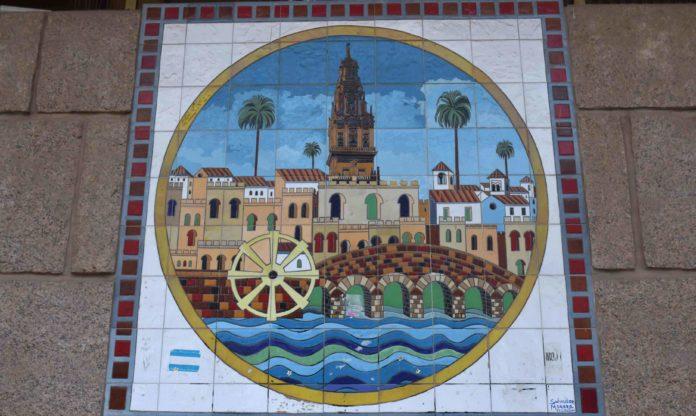 Mosaico en la fachada del Ayuntamiento de Córdoba