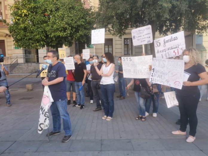 Manifestación de trabajadores