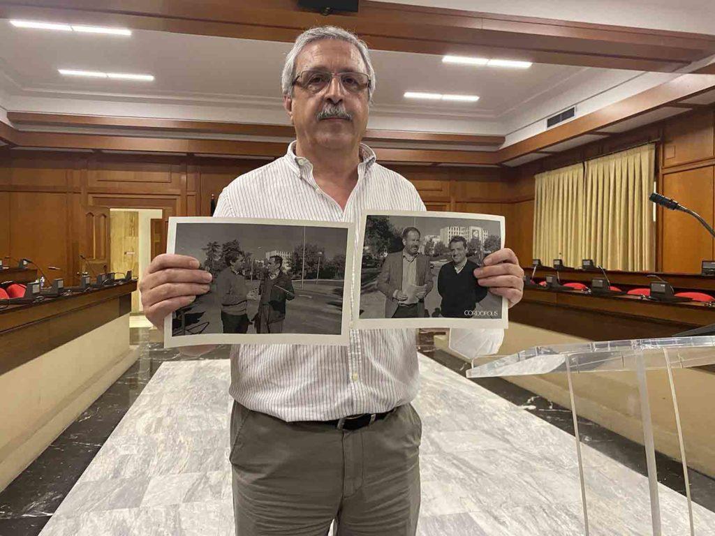 José Rojas en el Salón de Plenos del Ayuntamiento
