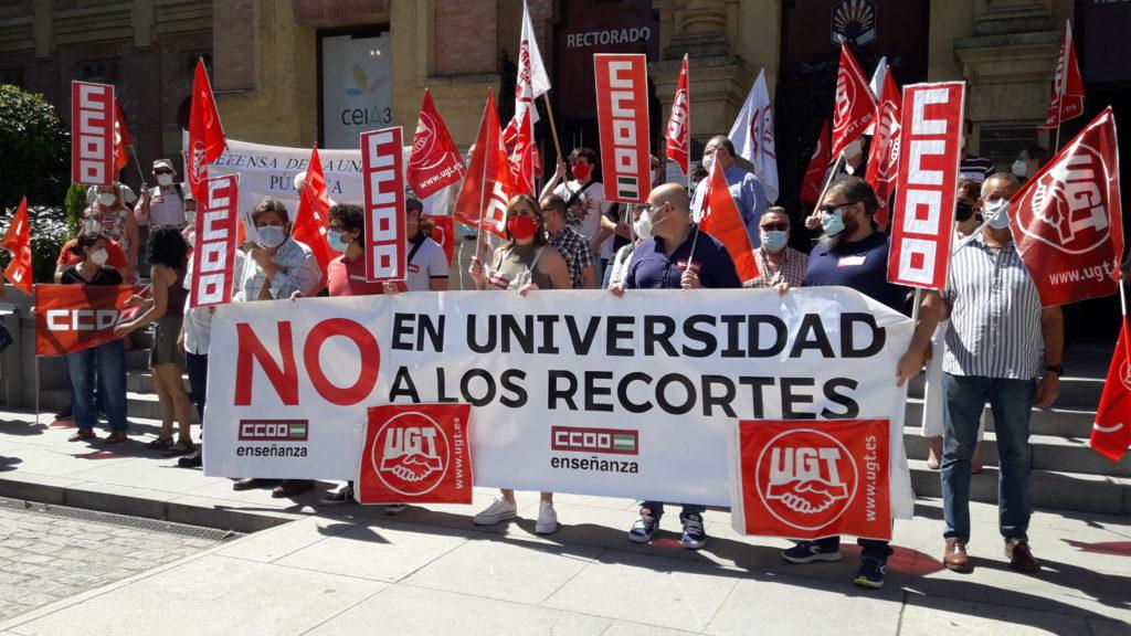 Manifestación en el Rectorado