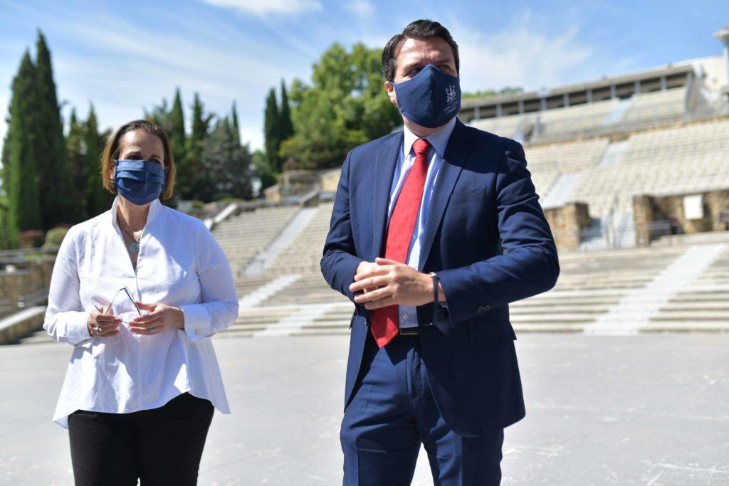 José María Bellido y Blanca Torrent en la Axerquía