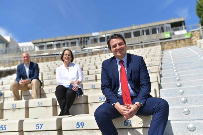 José María Bellido, Blanca Torrent y Juan Rafael Martinez en la Axerquía