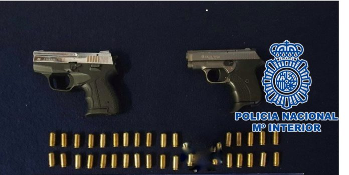 Armas incautadas por Policía Nacional