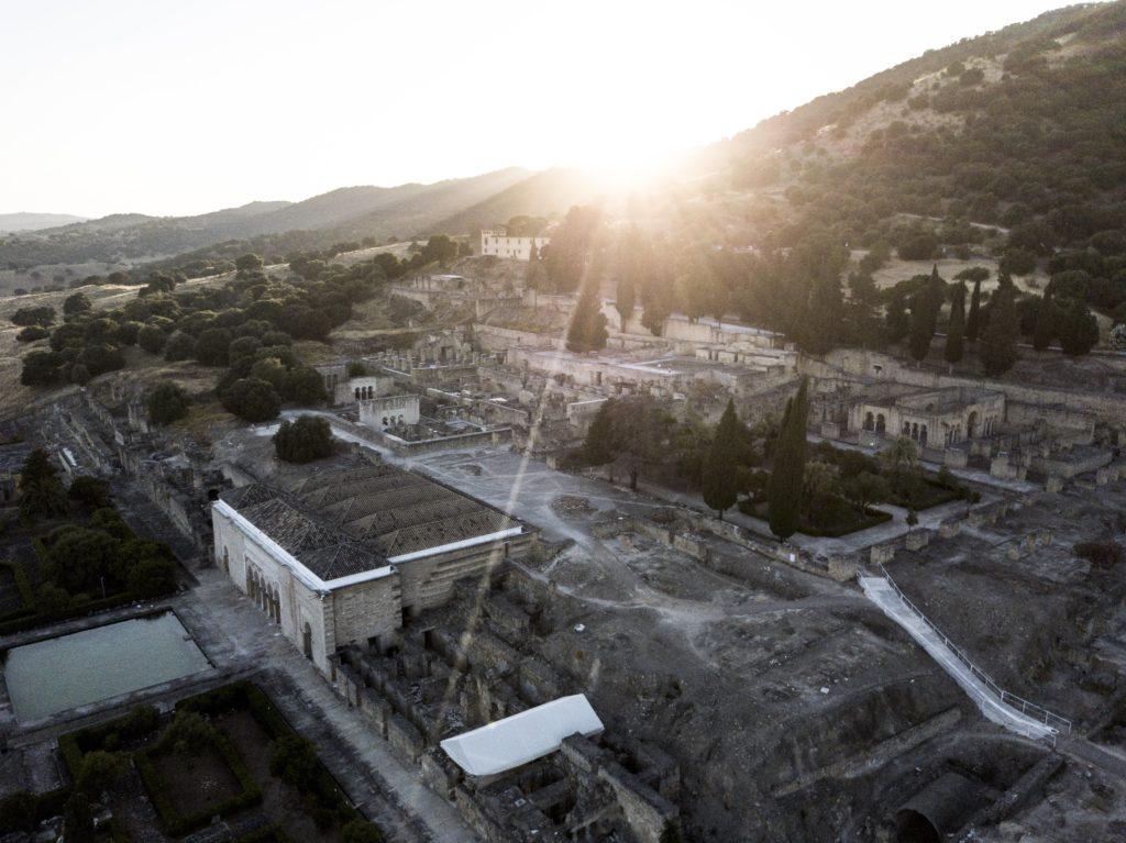 Vista aérea con drone de Medina Azahara