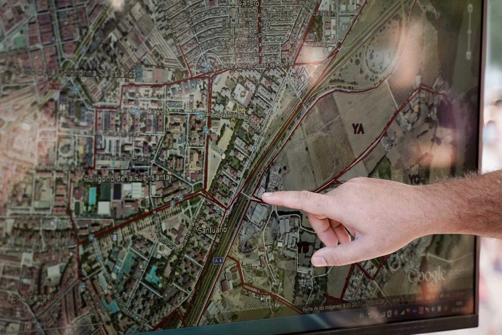 Dispositivo de búsqueda de José Morilla. Foto: Miguel Valverde
