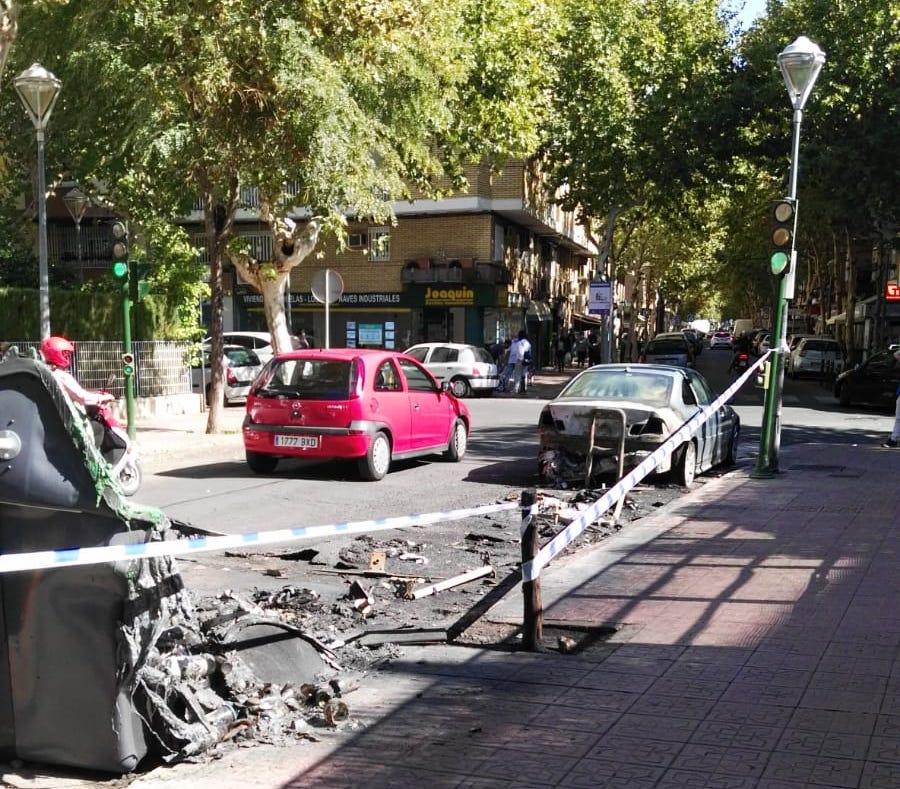 Rastro de los fuegos extinguidos en Santa Rosa