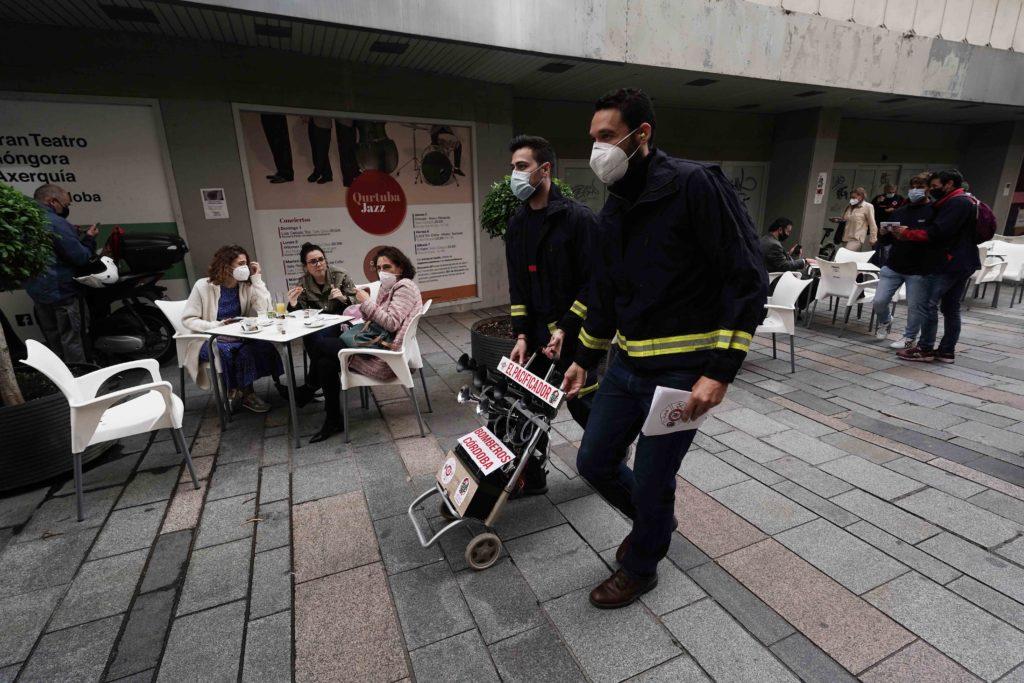 Los bomberos de Córdoba se manifiestan