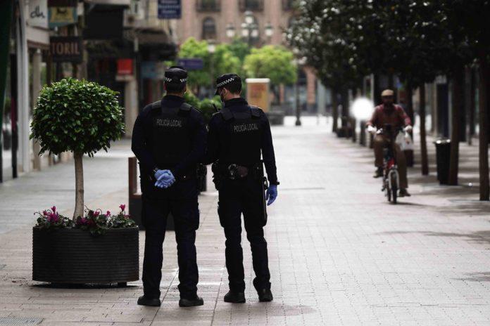 Policias Locales de servicio. FOTO: RAM