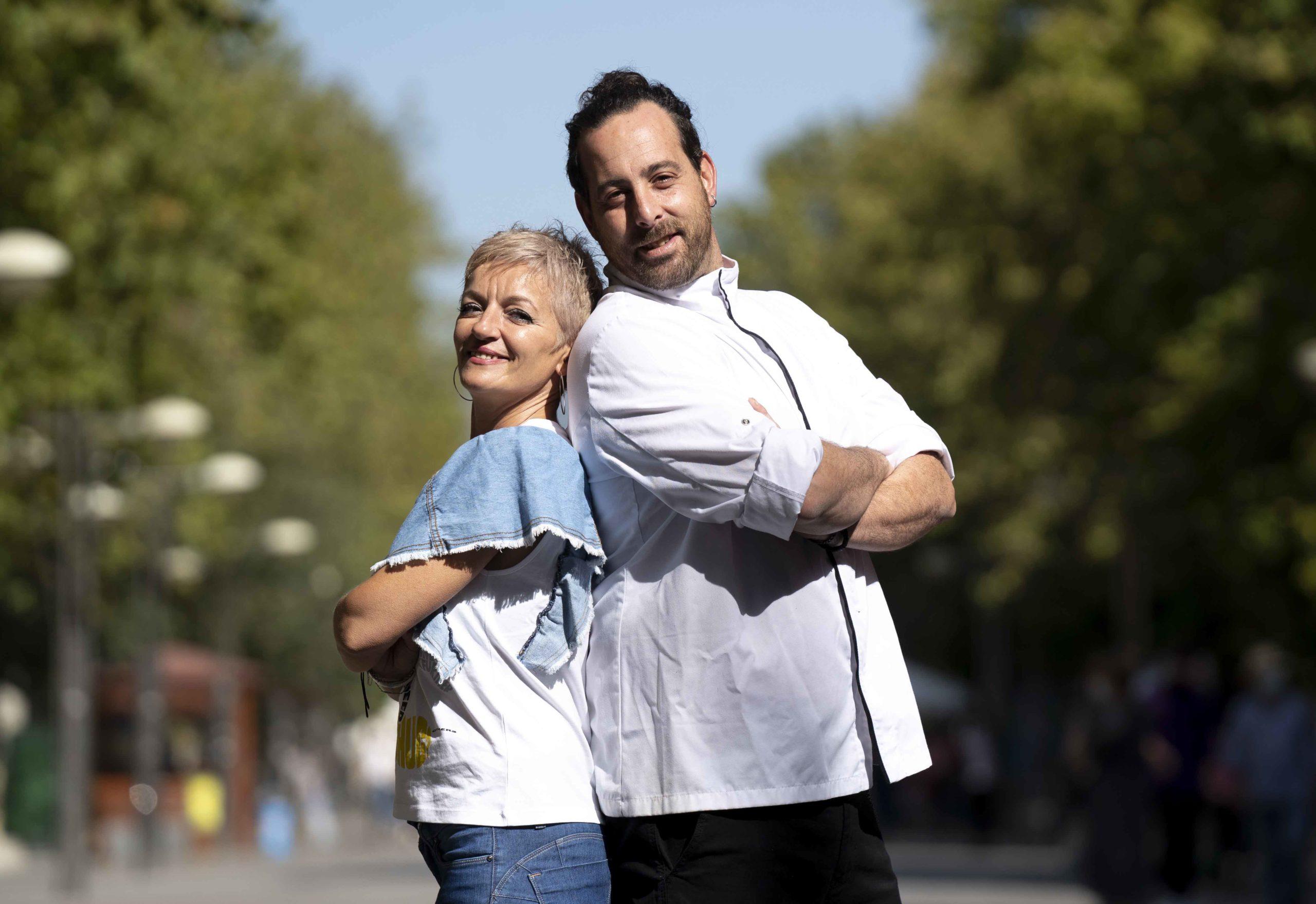 José María del Pino y Mirem Luque, de Restaurante Nískalo