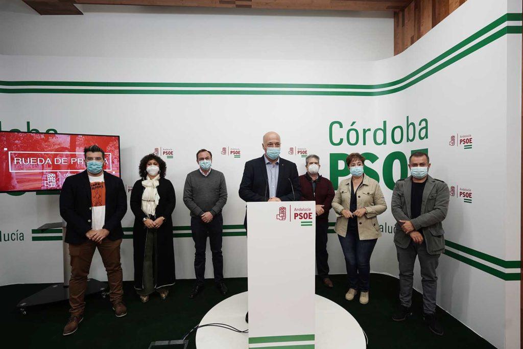 16-10-2020. El secretario general del Psoe en Córdoba, Antonio Ruiz en rueda de prensa
