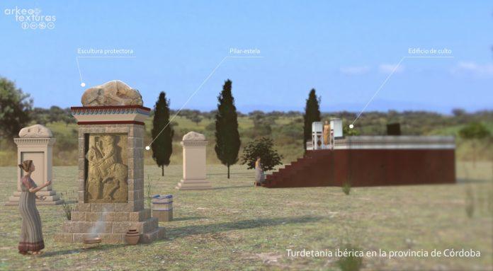 Recreación 3D creada por Arkeotexturas