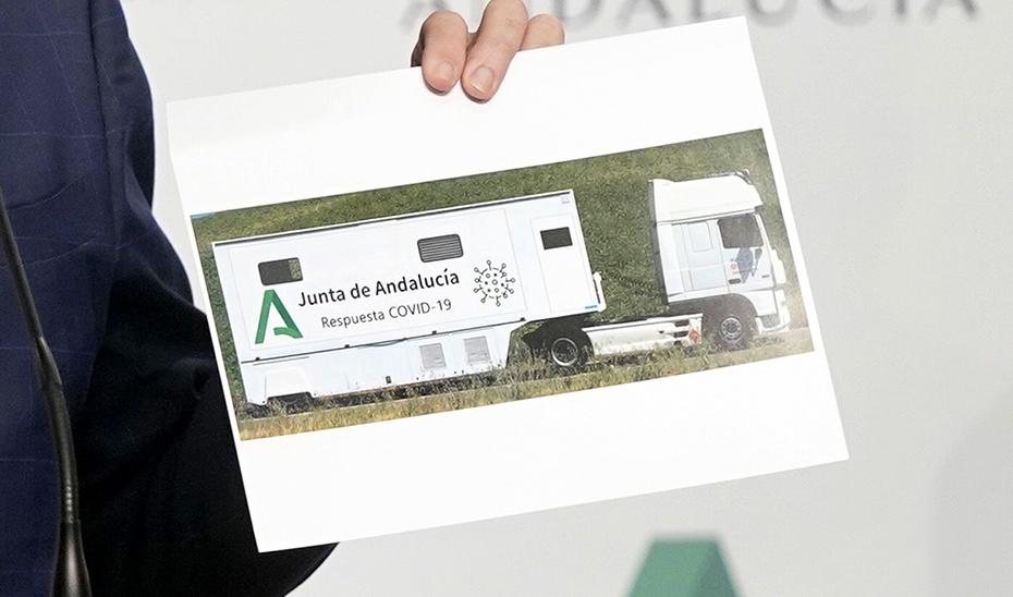 La Junta de Andalucía incorpora un vehículo que realizará test masivos por Covid-19 por toda la provincia de Córdoba