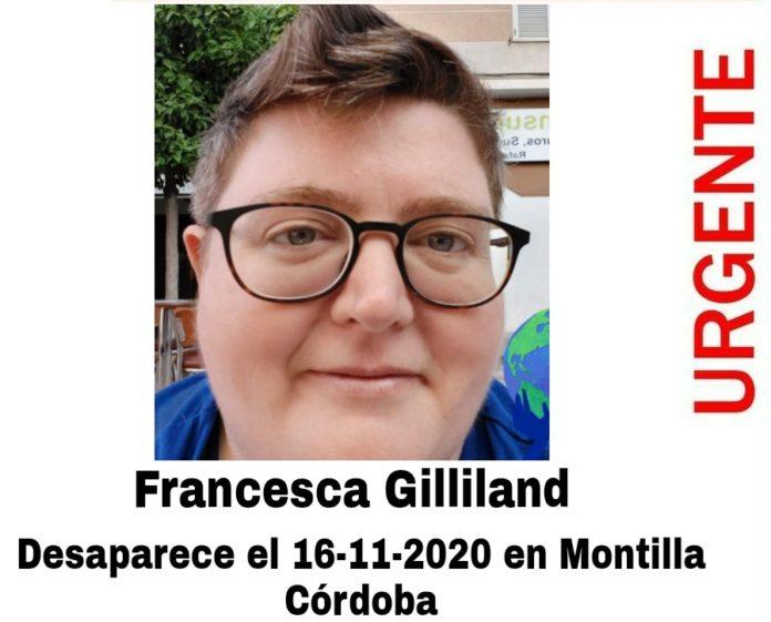Francesca Gilliland, desaparecida en Montilla
