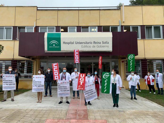 Movilizaciones en el Hospital Reina Sofía de Córdoba. Orden del 8 de noviembre