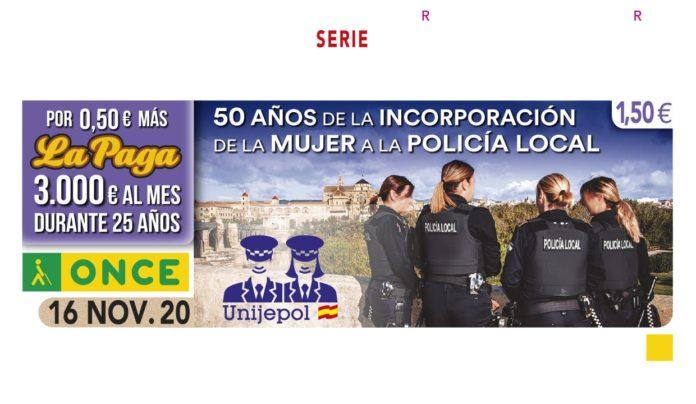 El cupón que dedica la ONCE al 50 aniversario de la incorporación de la mujer a la Policía Local de Córdoba