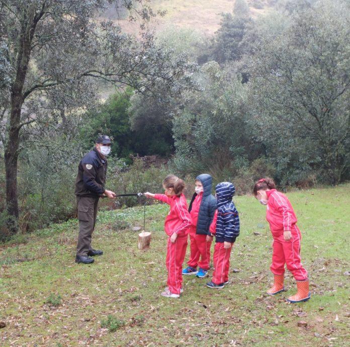 Los jóvenes participan en el proyecto 'Educar en verde' de la Junta de Andalucía