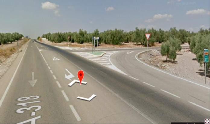 Punto de la A-318 donde ha tenido lugar el accidente, Foto: Junta de Andalucía
