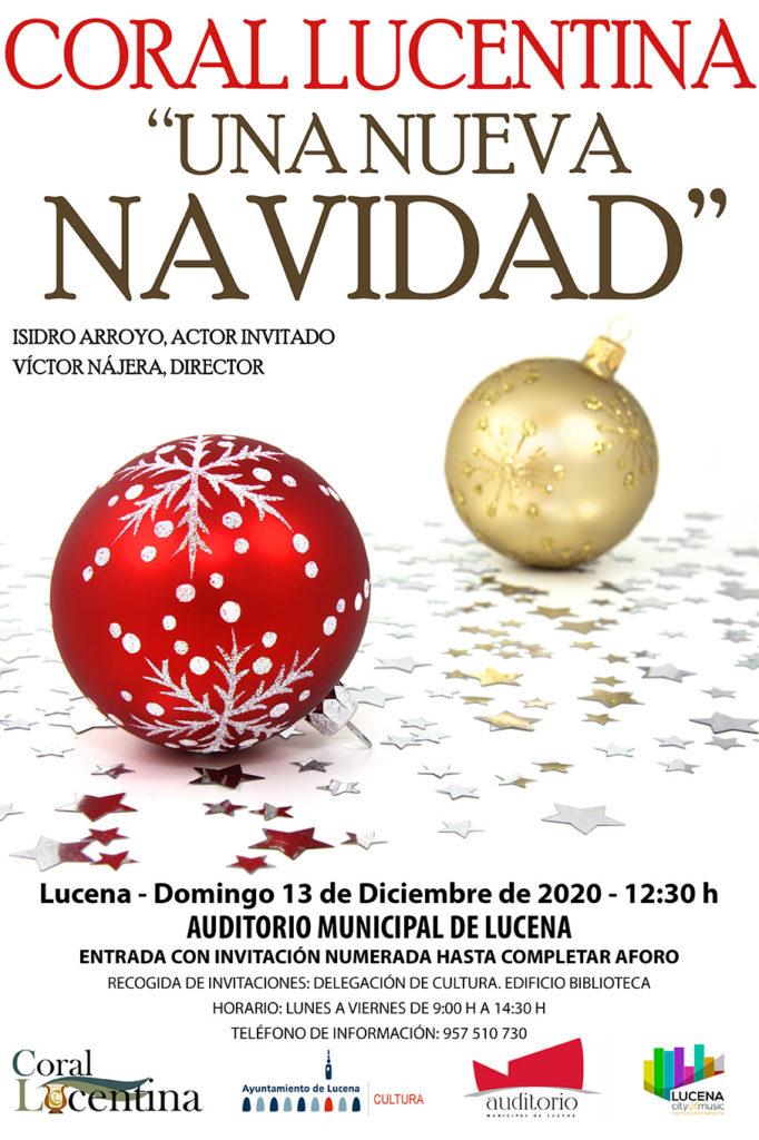 Cartel del convierto de Navidad de Lucena