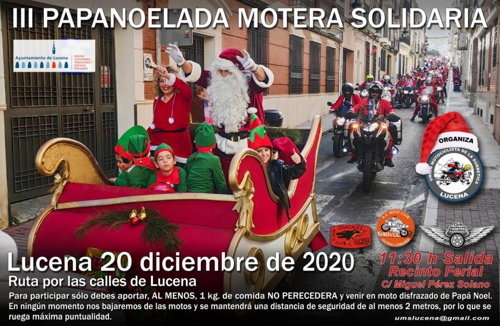 Cartel de la 'Papanoelada' de Lucena