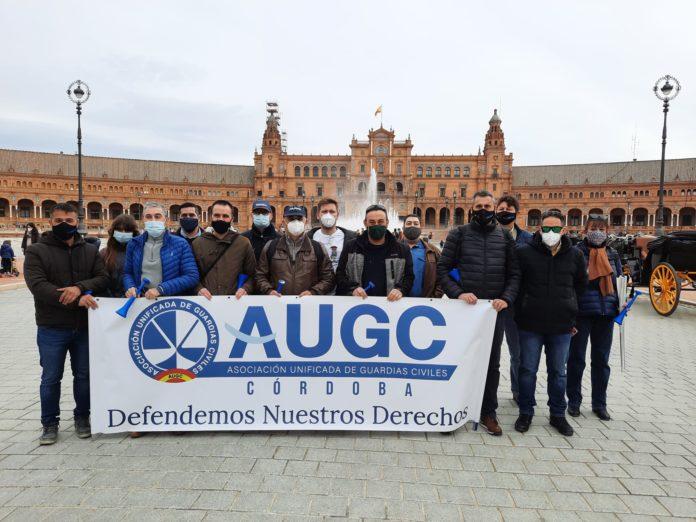 La Guardia Civil de Córdoba se manifiesta en Sevilla