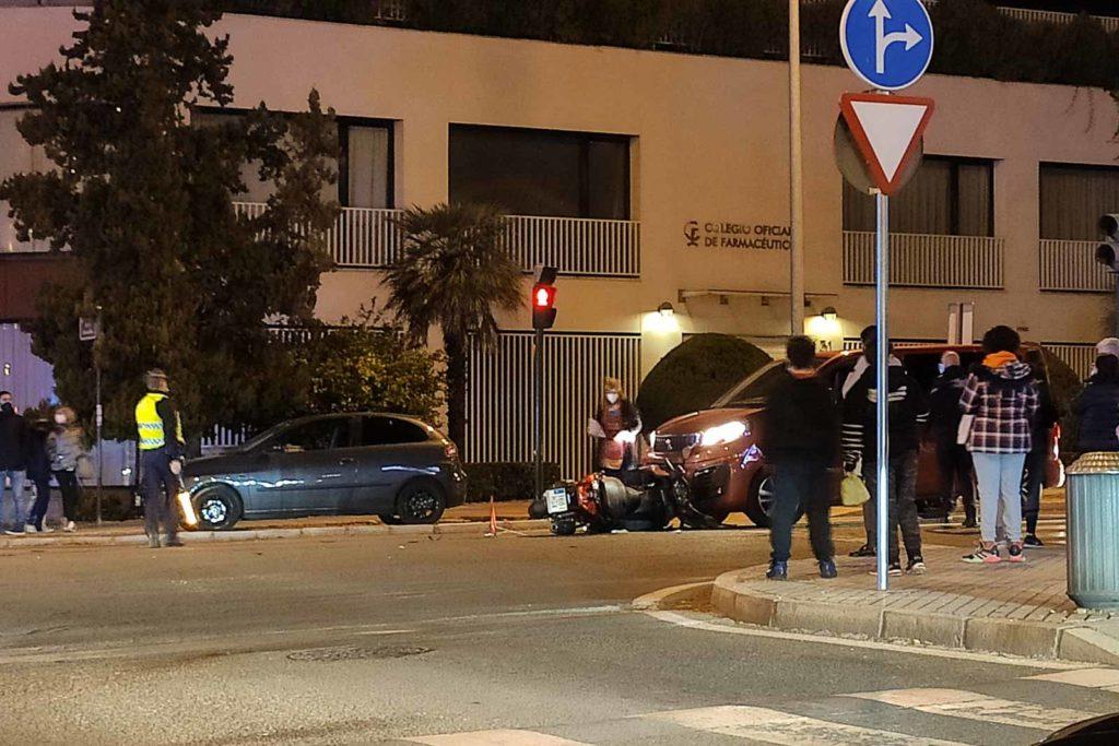 Accidente de moto en el Brillante: Foto Miguel Valverde