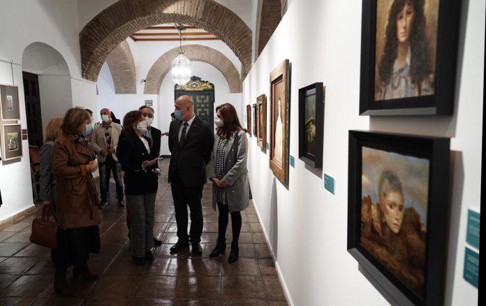 Carmen Calvo y Antonio Ruiz en la exposición de Ginés Liébana. Foto: RAM