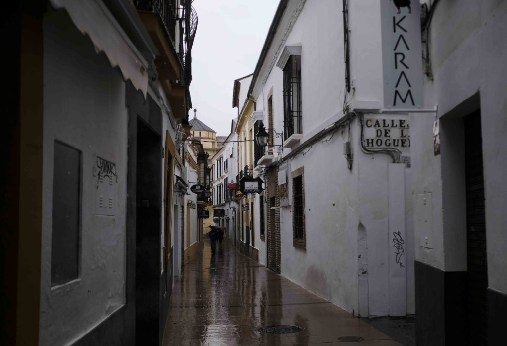Un día de lluvia en la Judería de Córdoba