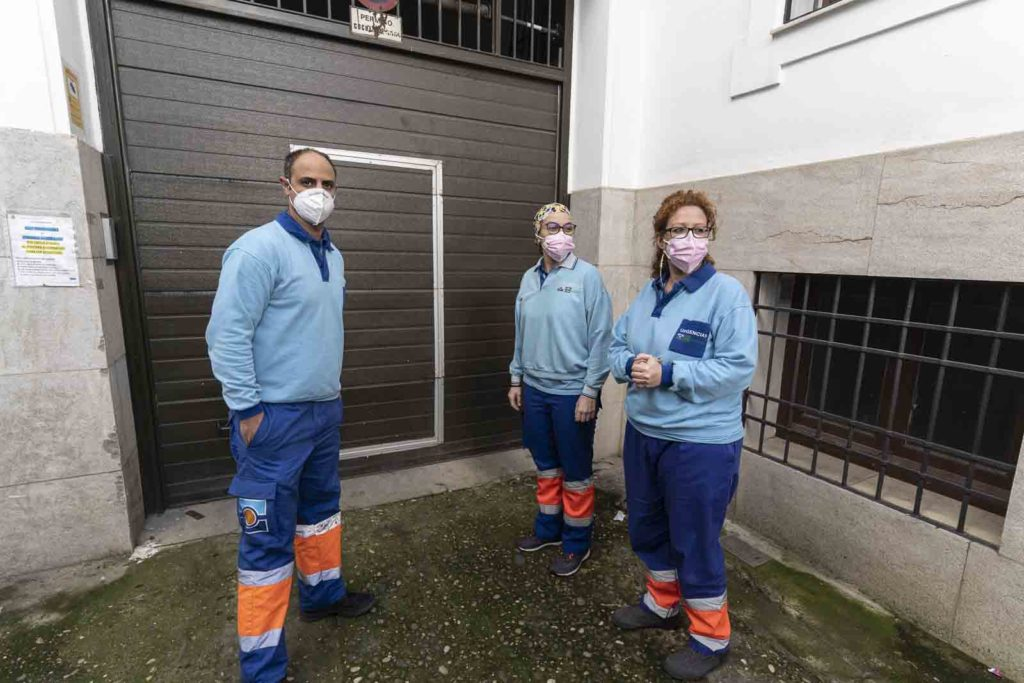 Residencia de San Rafael en Córdoba recibe la vacuna. FOTO: RAM