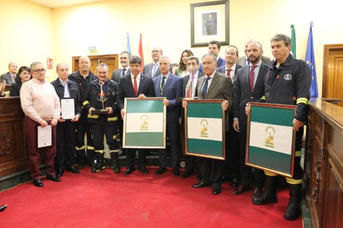 Acto de entregas de banderas de Andalucía, día de Andalucía