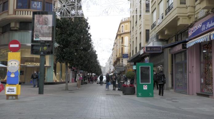 Comercios en la calle de Cruz Conde en Córdoba