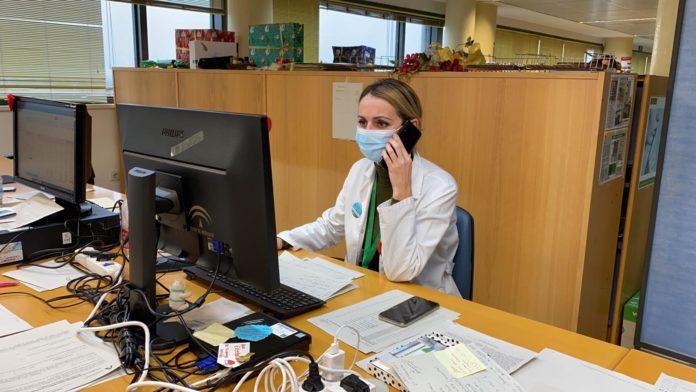 Estefanía López, enfermera del equipo de vacunación covid