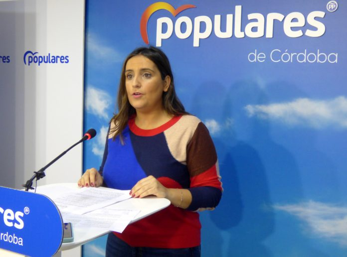 Beatriz Jurado en la sede del PP en Córdoba