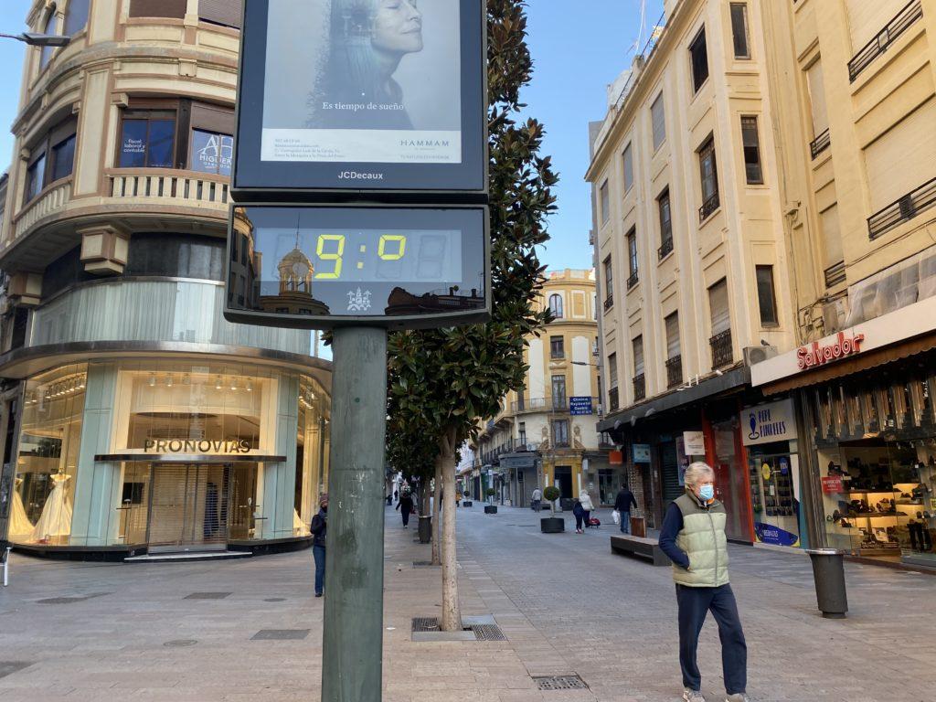 Córdoba amanece en la ola de frío