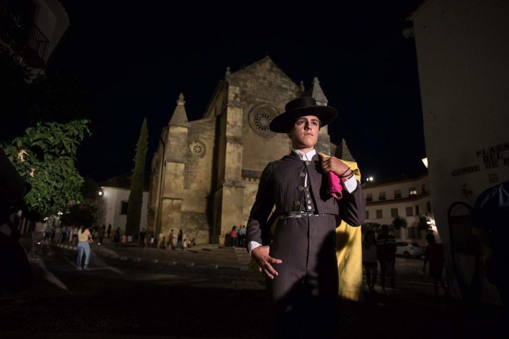Momento del homenaje a Manolete en Córdoba