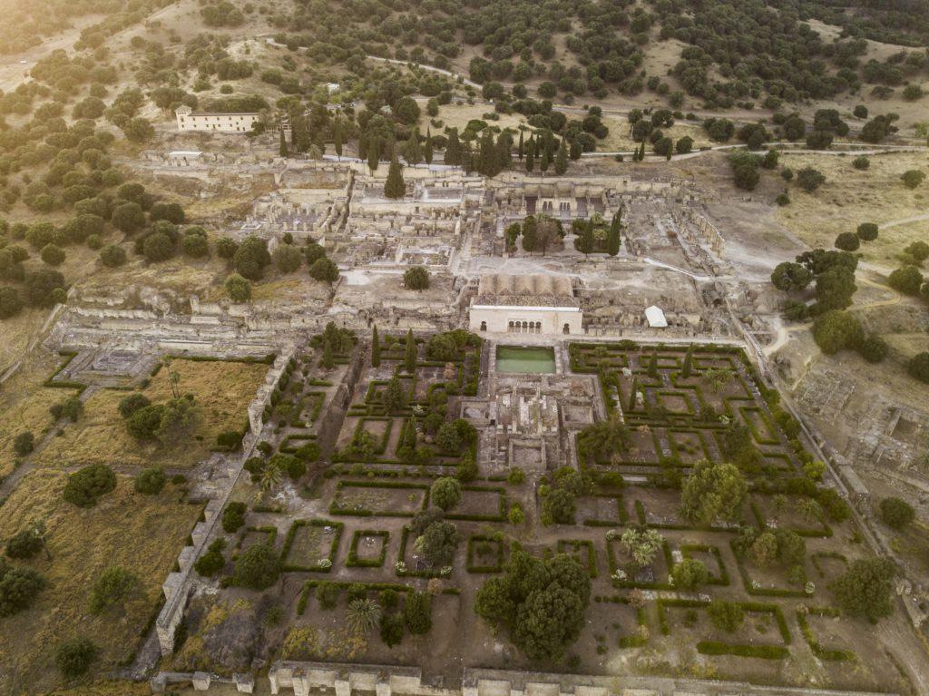 Vista aérea de Medina Azahara en Córdoba