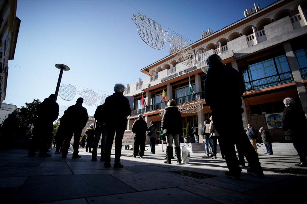 Plataforma ciudadana de Córdoba en defensa del sistema público pensiones. Foto: Miguel Valverde