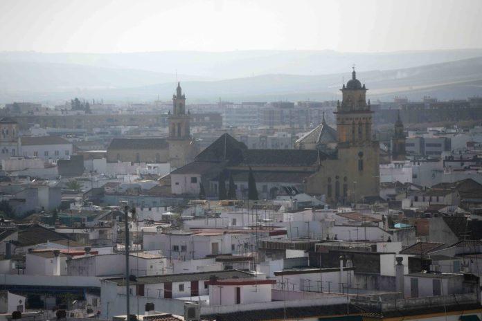 Vista de drone del barrio de San Agustín