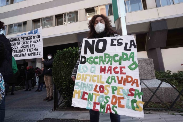 Se manifiestan por el alumnado con necesidades educativas especiales de Córdoba