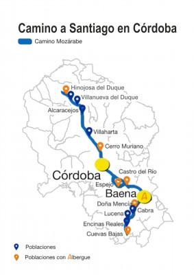 Mapa Córdoba Camino Jacobeos