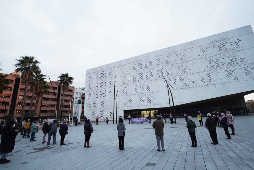 Círculo simbólico en la Ciudad de la Justicia Foto: RAM