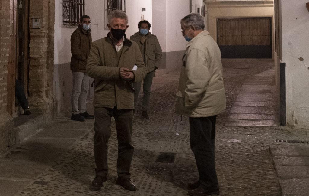 De Izq. a Drcha Juan Manuel López Rodríguez, Joaquín Zuerita, J. Campos
