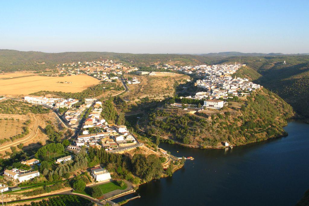 Vista aérea de Hornachuelos. FOTO: Junta de Andalucía