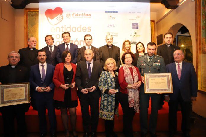 representantes de cáritas en la presentación de los premios