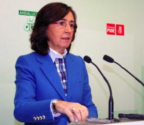 Rosa Aguilar, parlamentaria andaluza del PSOE. Foto: PSOE Córdoba.