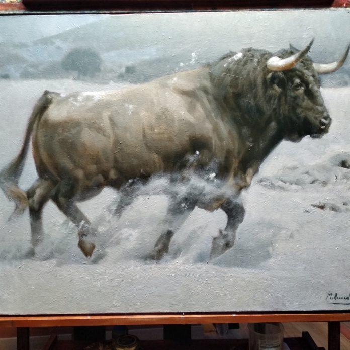 Toro pintado por Miguel Acevedo