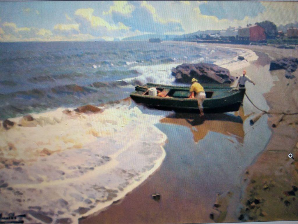 Una de las últimas marinas pintadas por Miguel Acevedo